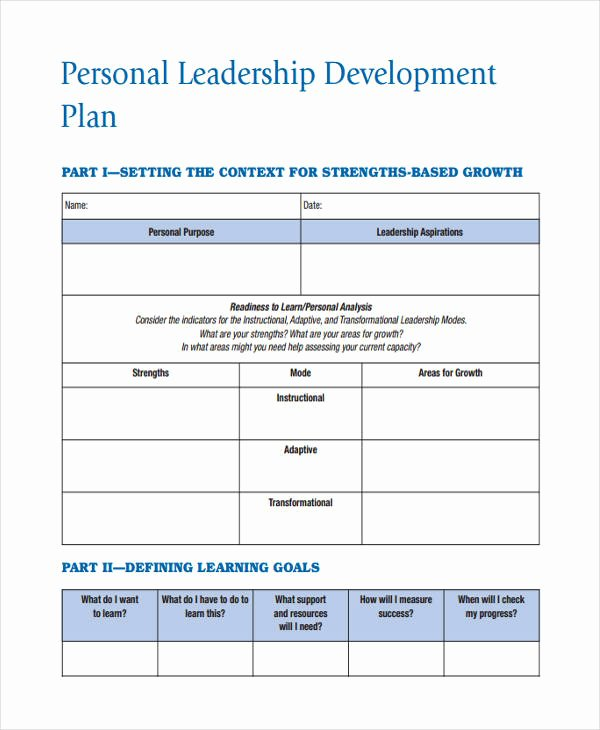 Leadership Development Plan Template Fresh 56 Development Plan Examples & Samples Pdf Word Pages