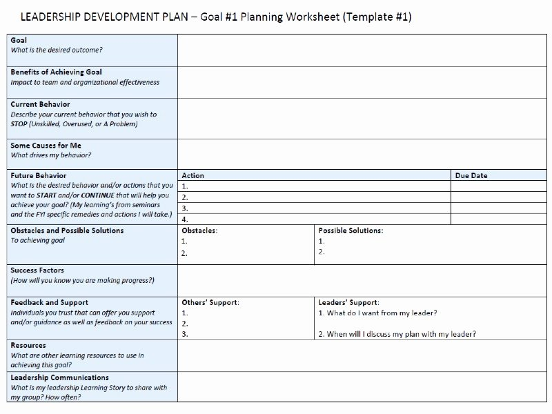 Leadership Development Plan Template New Leadership Development Plan