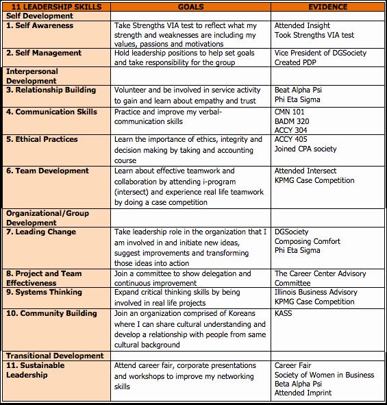 Leadership Development Plan Template New Leadership Development Plan