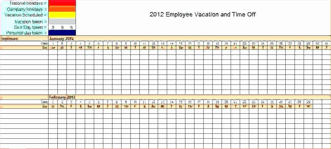 Leave Tracker Excel Template Beautiful Download by Annual Leave Planner Excel Template Free Chart