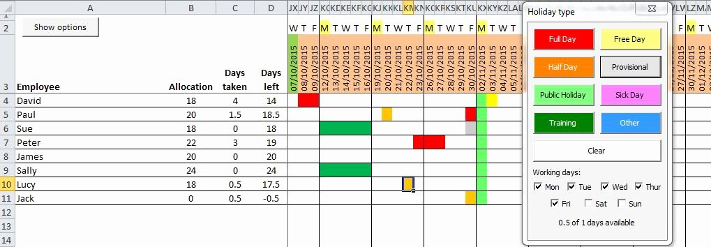 Leave Tracker Excel Template Unique Leave Tracker Excel Template