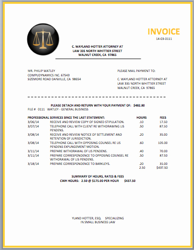 Legal Invoice Template Word Awesome Legal Invoice Template Word