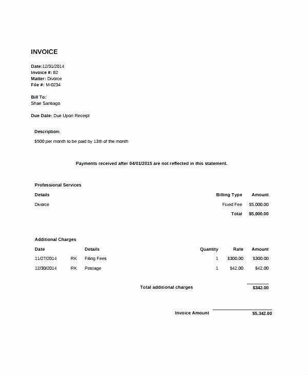 Legal Invoice Template Word Best Of Legal Invoice Template Word
