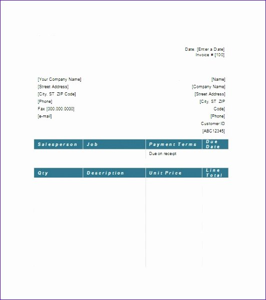 Legal Invoice Template Word Fresh 10 Excel Templates for Invoices Exceltemplates