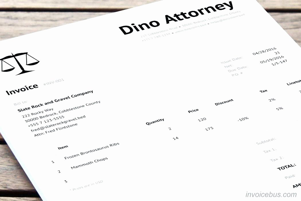 Legal Invoice Template Word Inspirational Legal Invoice Template Word