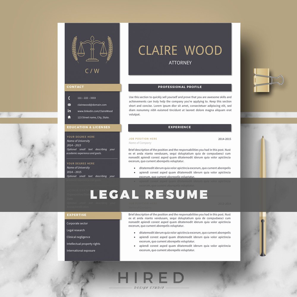 Legal Resume Template Word Best Of Resume Templates Hired Design Studio