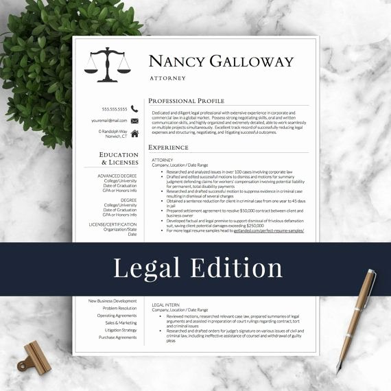Legal Resume Template Word Lovely 193 Best Professional Resume Templates Images On Pinterest