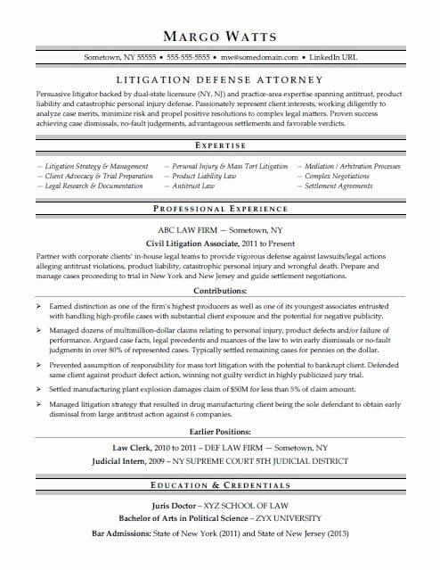 Legal Resume Template Word Luxury attorney Resume Sample