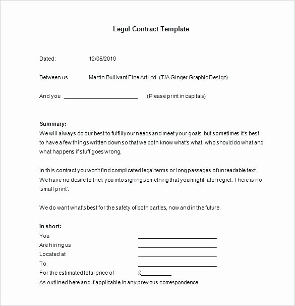 Legally Binding Contract Template Awesome A Contract is Legally Binding Sample Agreement Between Two
