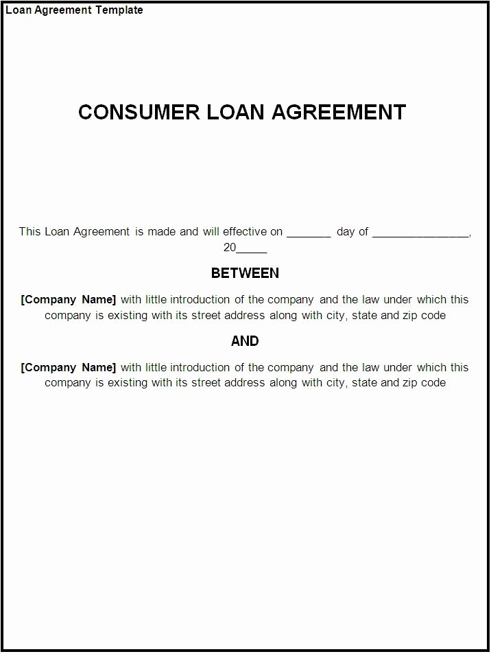 Lending Money Contract Template Free Beautiful 10 Best Of Money Payment Agreement Letter