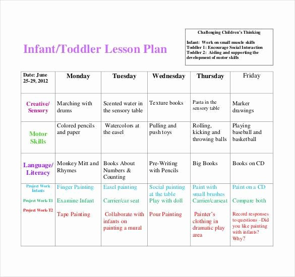 Lesson Plans for toddlers Template Beautiful 59 Lesson Plan Templates Pdf Doc Excel