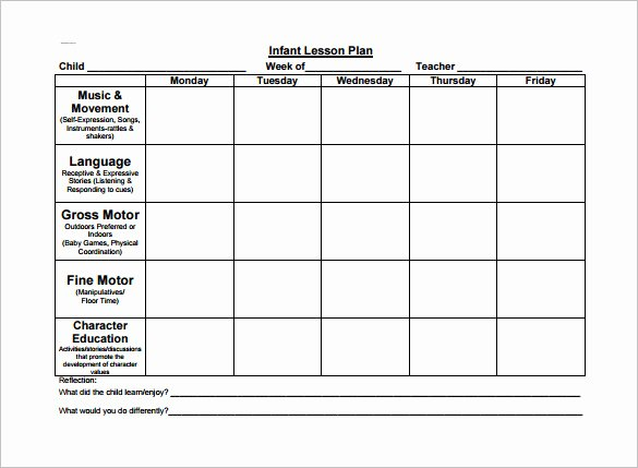 Lesson Plans for toddlers Template Elegant toddler Lesson Plan Template – 10 Free Word Excel Pdf