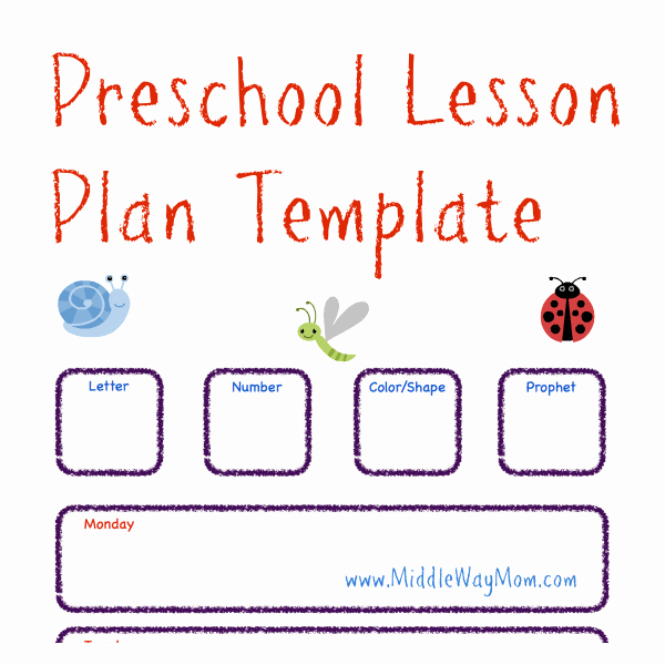 Lesson Plans for toddlers Template Fresh Make Preschool Lesson Plans to Keep Your Week Ready for