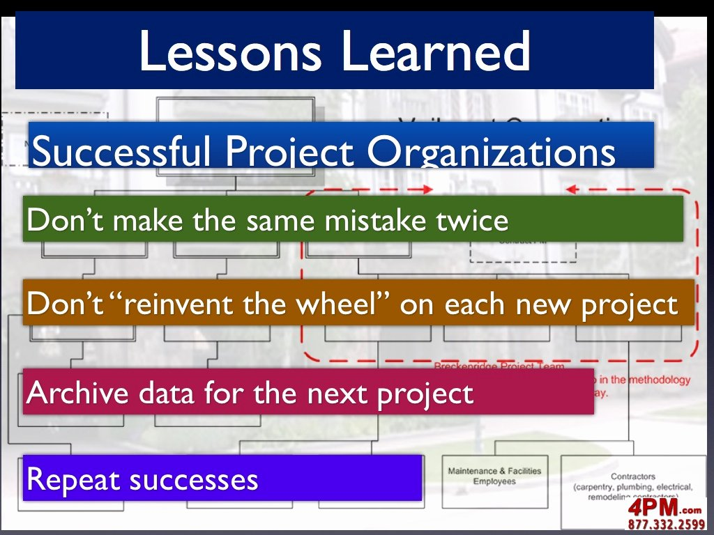 Lessons Learned Project Management Template Awesome Project Lessons Learned
