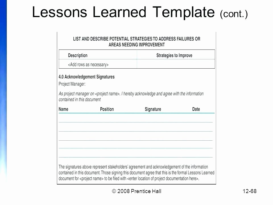 Lessons Learned Project Management Template Unique Project Management Lessons Learned Template Pmi Learnt