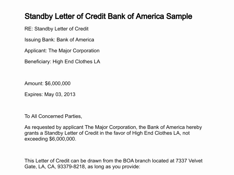 Letter Of Credit Template Best Of Bank Letter Credit Template Icebergcoworking