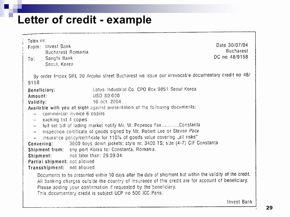 """Letter Of Credit Template Best Of """"international Finance and Payments"""" Ppt Video Online"""