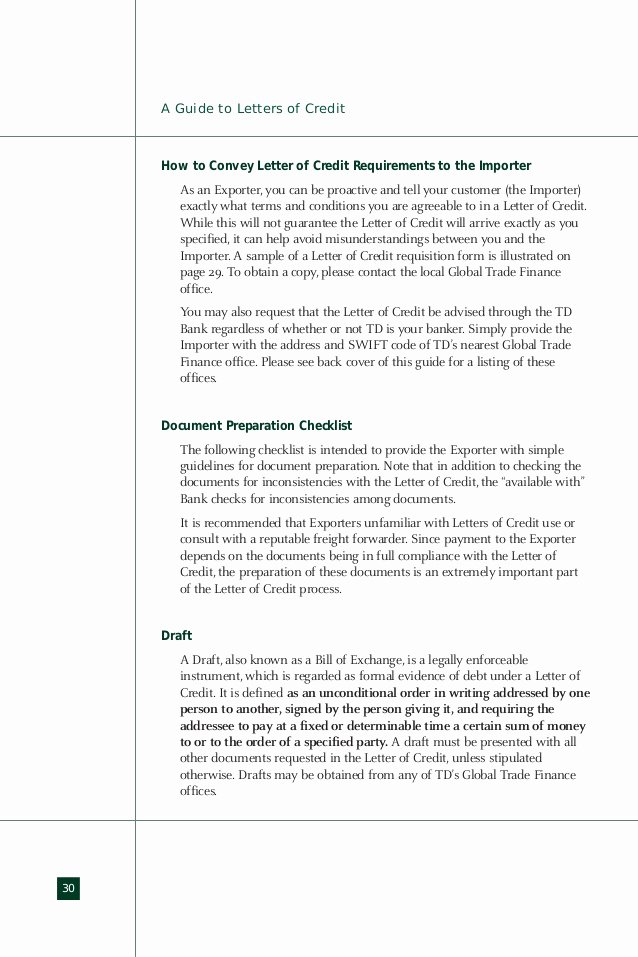 Letter Of Credit Template Lovely Import Export Guide Letter Of Credit