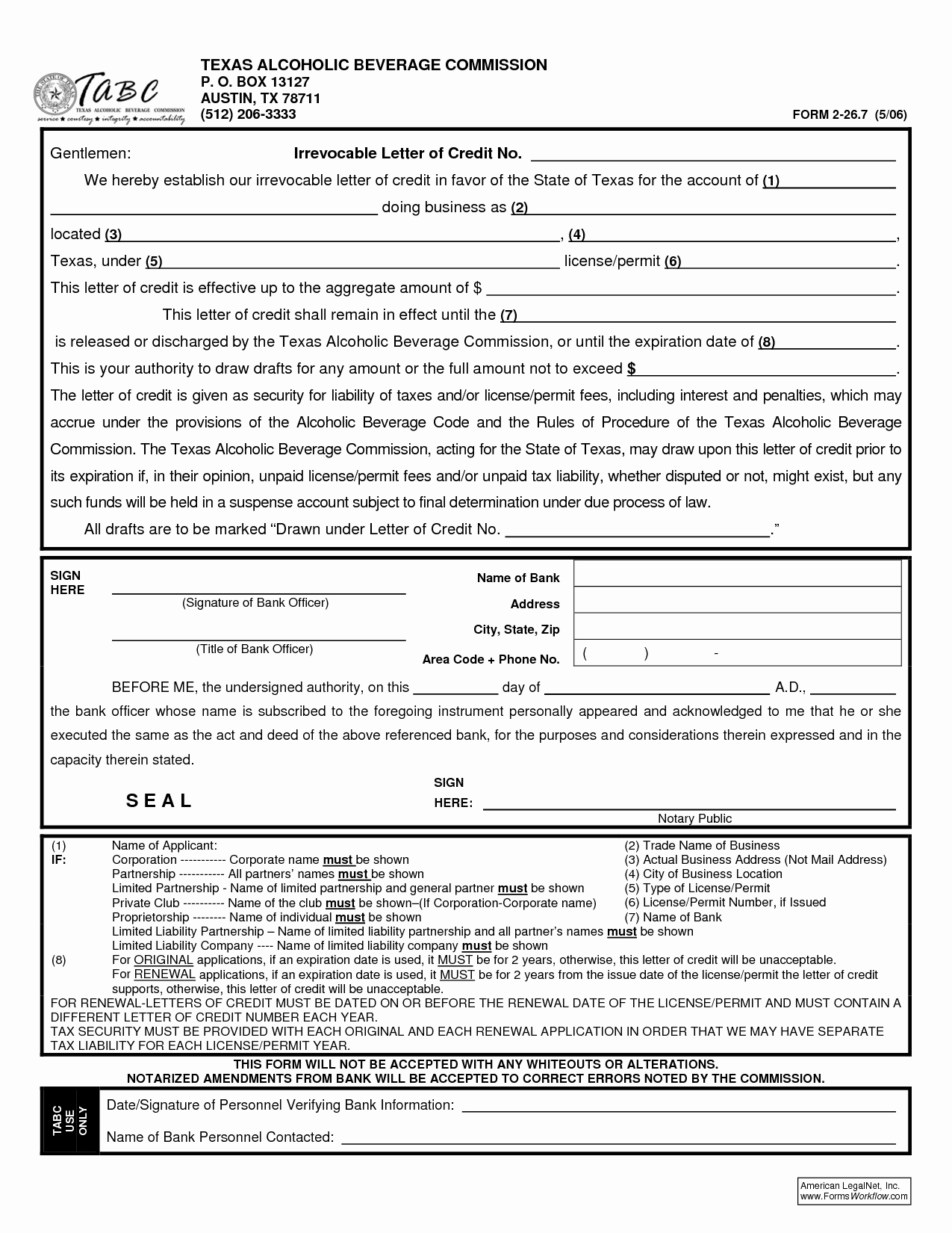 Letter Of Credit Template New Irrevocable Letter Credit