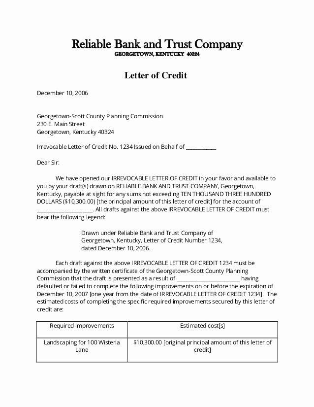 Letter Of Credit Template Unique Letter Of Credit Application Sample Durdgereport886 Web