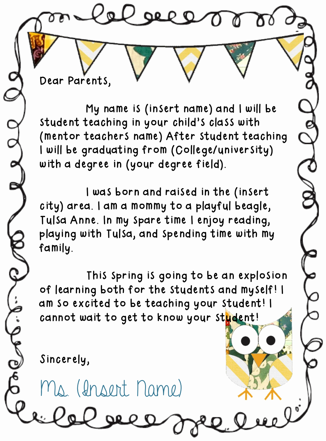 Letter to Parent Template Awesome Needing to Make A Letter to Send to Parents to Introduce