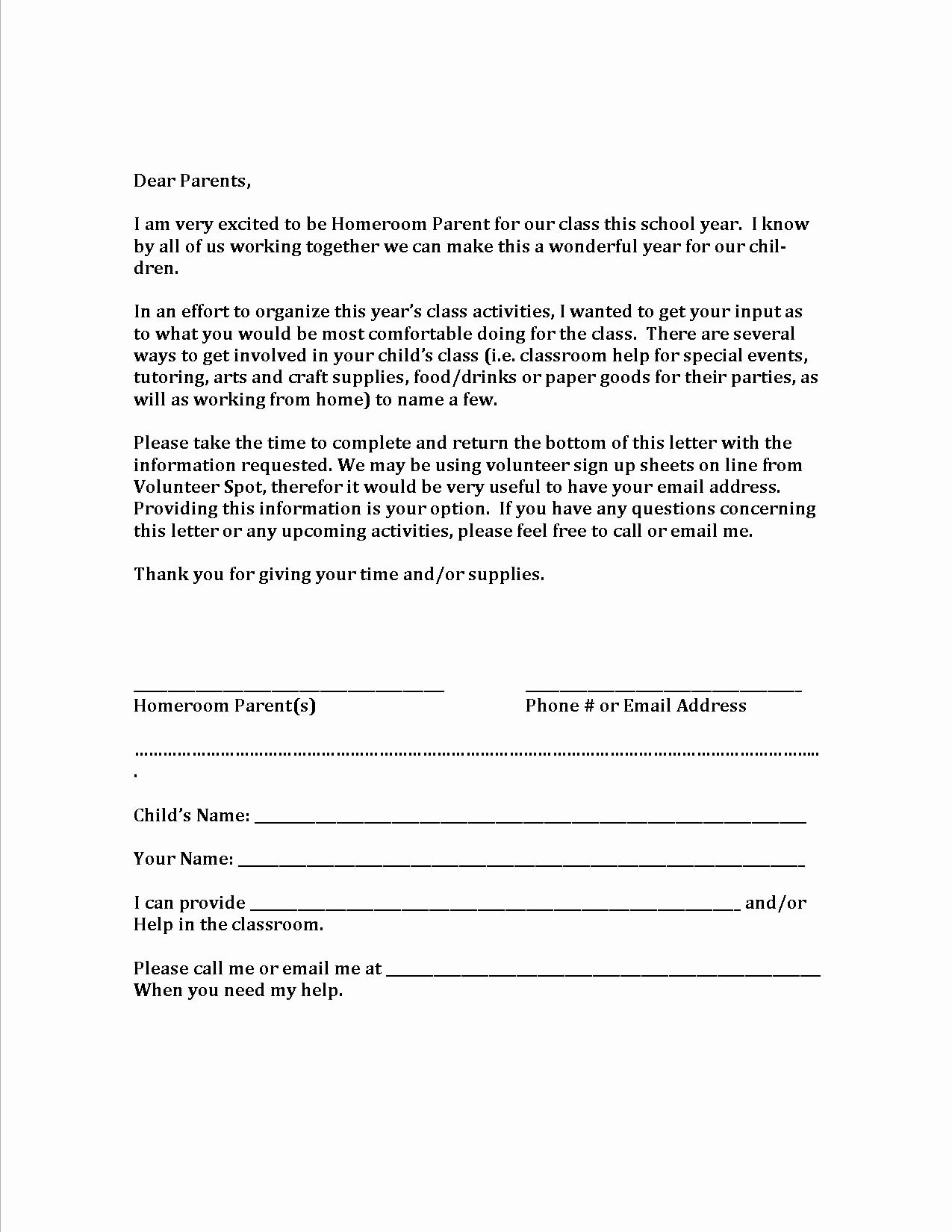Letter to Parent Template Awesome Volunteer Letter Template Hdvolunteer Letter Template