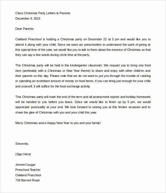 Letter to Parent Template Best Of 8 Parent Letter Templates Free Sample Example format