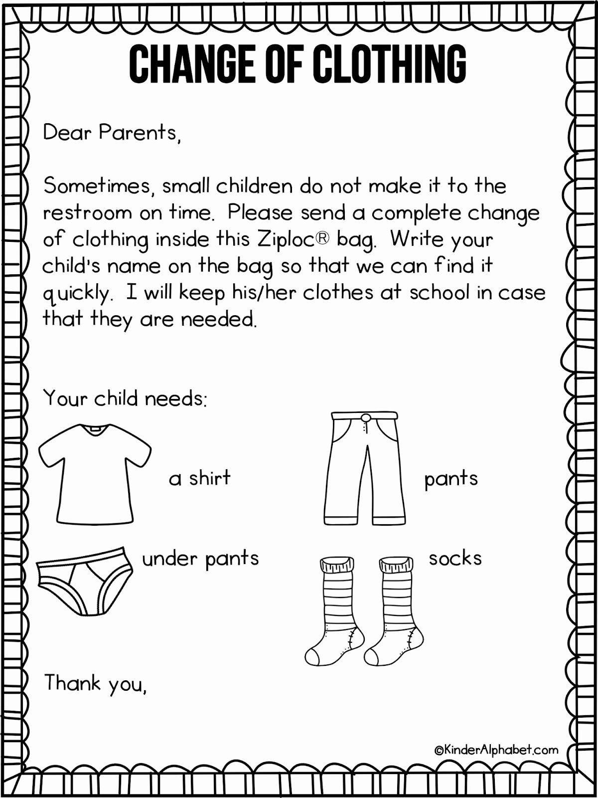 Letter to Parent Template Elegant Preschool Wel E Letter to Parents From Teacher Template