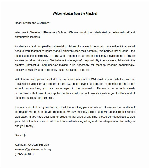 Letter to Parent Template Inspirational Parent Letter Template – 10 Free Word Pdf Documents
