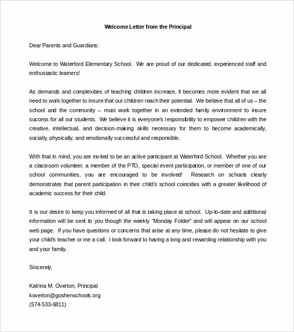 Letter to Parent Template Inspirational Parent Wel E Letter Template Invitation Template