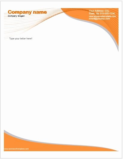 Letterhead Template Microsoft Word Awesome Business Letterhead Templates for Ms Word