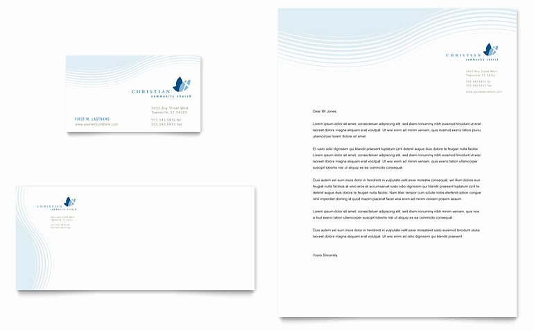 Letterhead Template Microsoft Word Awesome Christian Ministry Business Card & Letterhead Template