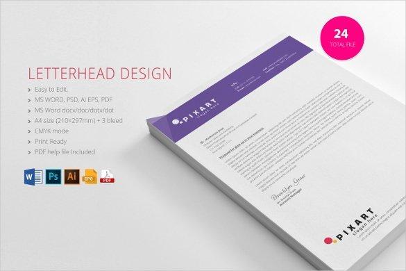 Letterhead Template Microsoft Word Beautiful 35 Free Download Letterhead Templates In Microsoft Word