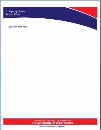 Letterhead Template Microsoft Word Elegant 17 Pany Letterhead Templates Excel Pdf formats