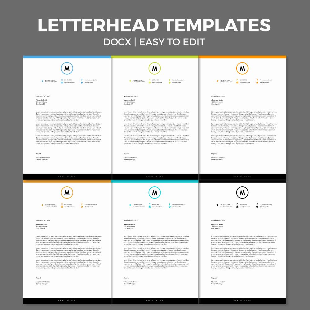 Letterhead Template Microsoft Word Fresh Free Modern Letterhead Template for Ms Word
