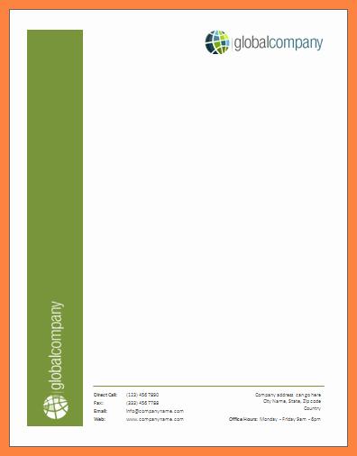 Letterhead Template Microsoft Word Inspirational 9 Microsoft Office Letterhead Template