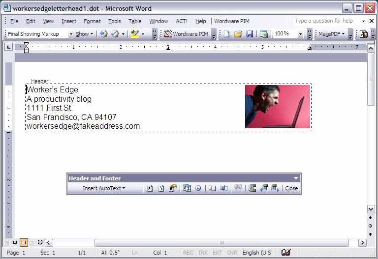Letterhead Template Microsoft Word Lovely Create A Letterhead Template In Microsoft Word Cnet