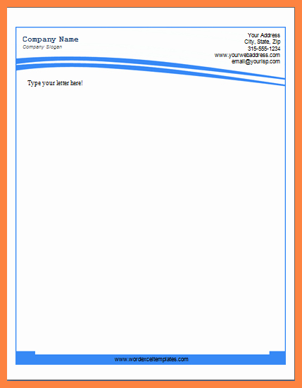 Letterhead Template Microsoft Word Unique 8 Letterhead Template Word 2007