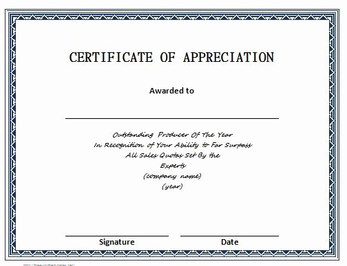 Letters Of Appreciation Template Awesome 30 Free Certificate Of Appreciation Templates and Letters
