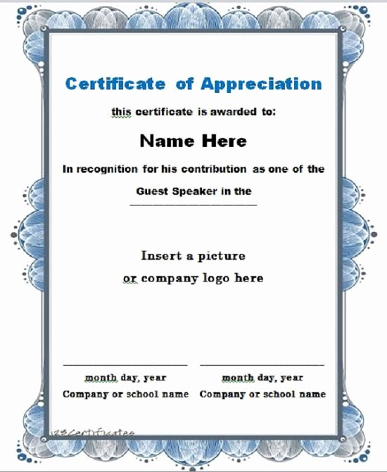 Letters Of Appreciation Template Best Of 31 Free Certificate Of Appreciation Templates and Letters