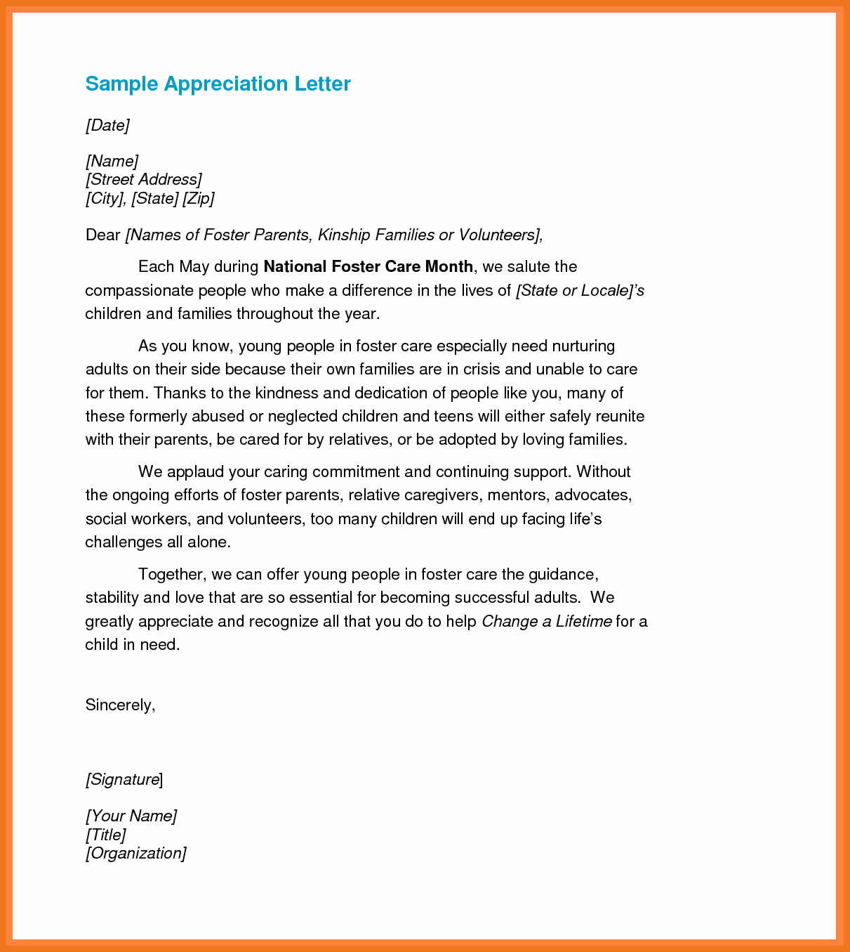 Letters Of Appreciation Template Lovely 4 5 Letter Of Recognition Samples