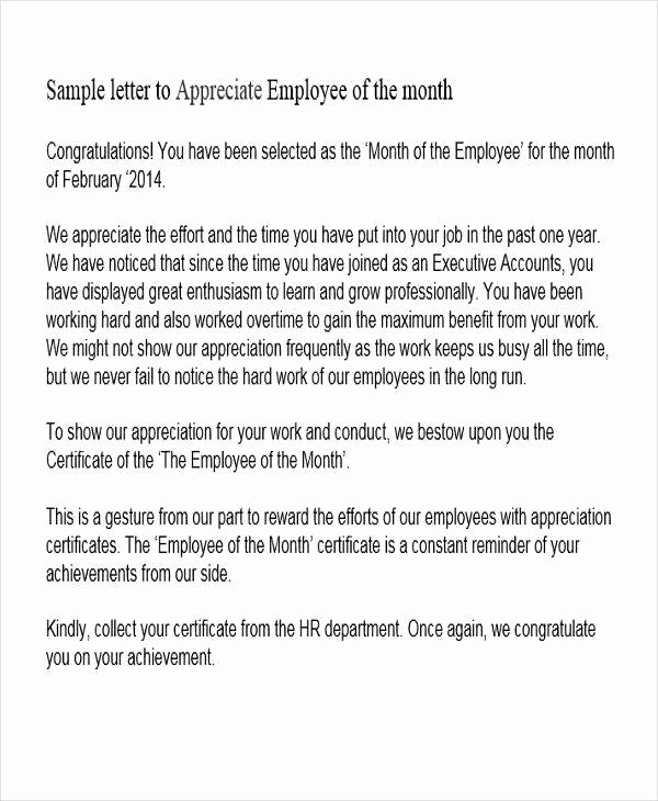 Letters Of Appreciation Template Lovely 41 Appreciation Letters In Pdf
