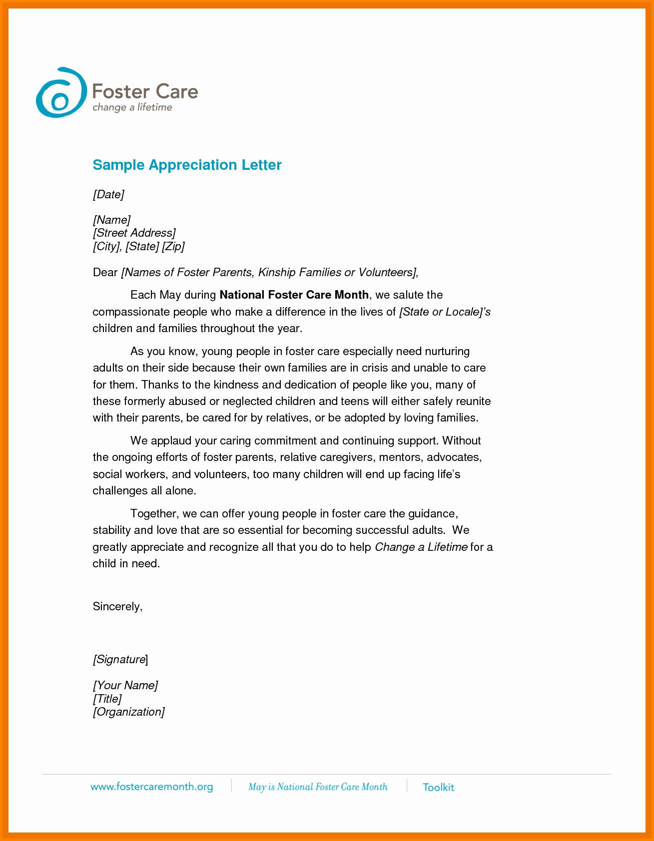 Letters Of Appreciation Template Unique 16 Appreciation Letters Samples