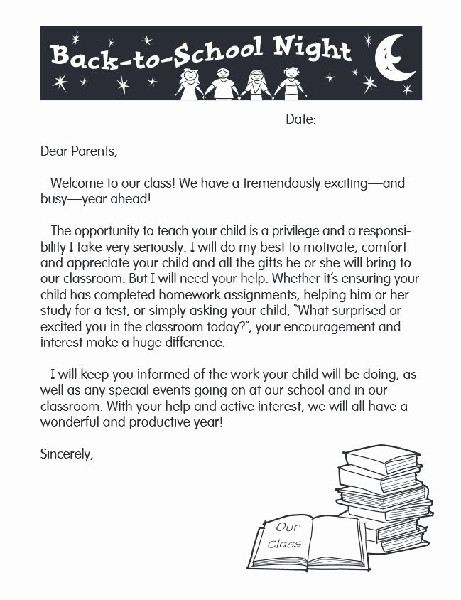 Letters to Parents Template Awesome 53 Best Images About Kindergarten Back to School On
