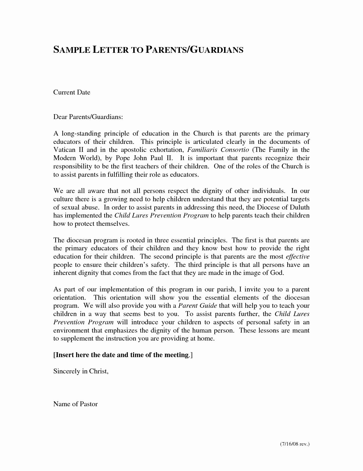 Letters to Parents Template Elegant Failure Letter to Parents Template Templates Station