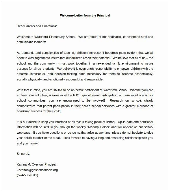 Letters to Parents Template Elegant Parent Letter Template – 10 Free Word Pdf Documents