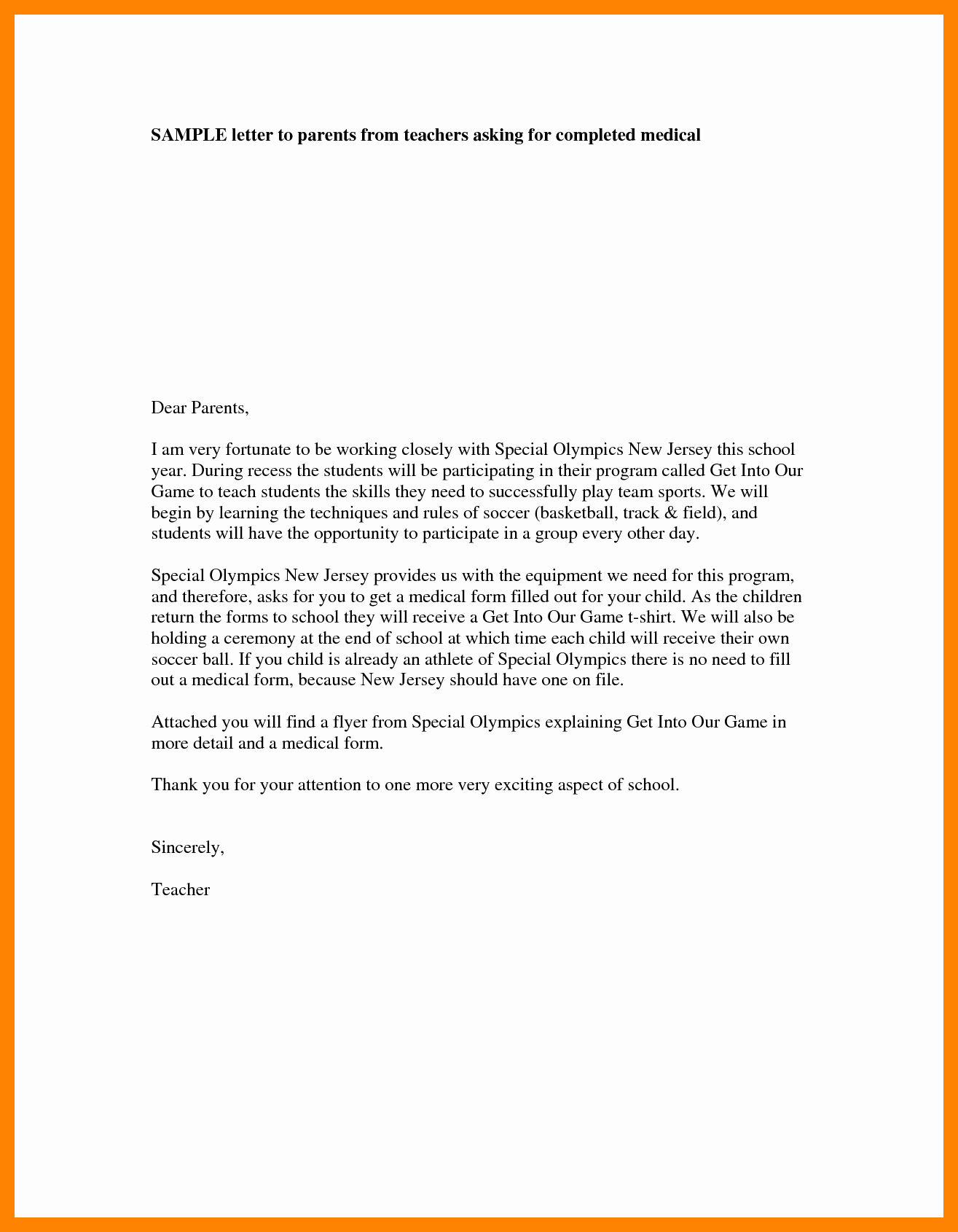 Letters to Parents Template New 4 Teacher Introduction Letter to Parents Template