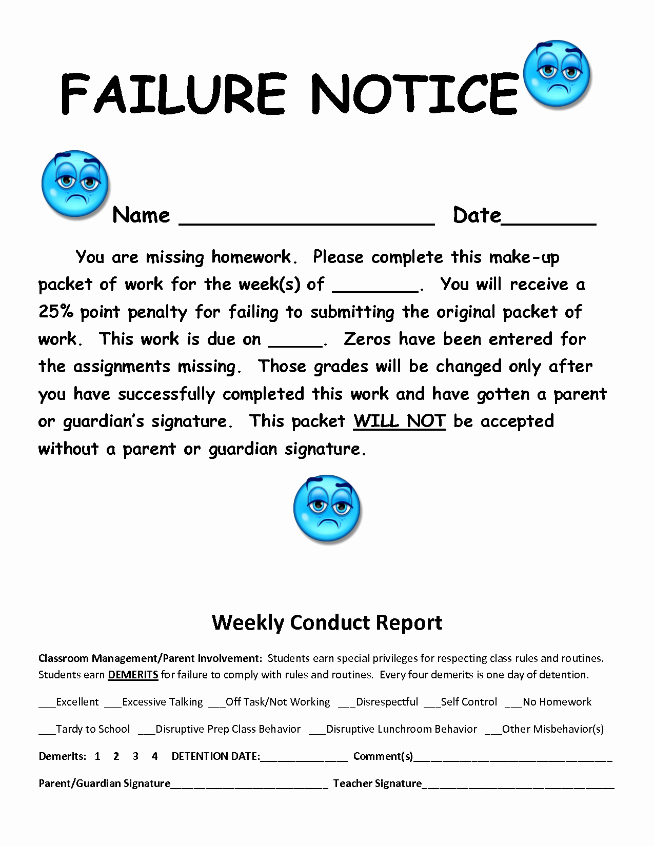 Letters to Parents Template New Failure Letter to Parents Template Templates Station
