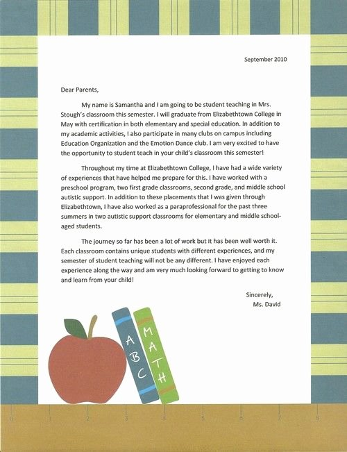 Letters to Parents Template New Student Teaching On Pinterest