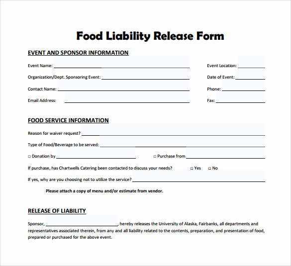 Liability Waiver form Template Free Beautiful 10 Liability Release form Examples Download for Free